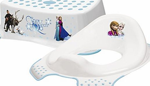 Frozen Toddler Toilet Training Seat amp; Step Stool Combo - White