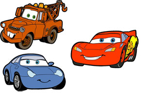 Pixar Cars Foam Elements