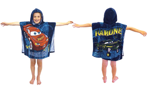 Pixar Cars Hooded Poncho Towel