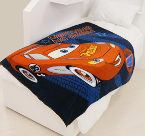 Pixar Cars `ightning McQueen`Small Fleece Blanket
