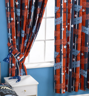 The Disney Pixar Cars curtains come with tie-backs, are pleated at the top, and can be easily attached to any curtain rail or pole, Hornet and Lightning McQueen design, 100% Cotton and machine washable, each curtain is 66ins wide with a drop of 54ins - CLICK FOR MORE INFORMATION