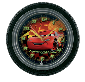 Pixar Cars Tyre Wall Clock