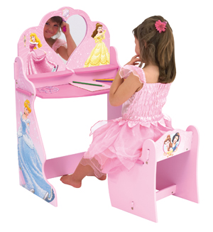 Disney princess dressing table and chair review compare - Table princesse disney ...