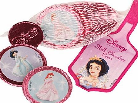 Disney Princess Milk Chocolate Coins in a Pink Bag - 60g