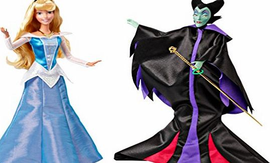 Disney Princess Signature Collection Sleeping Beauty amp; Maleficent Doll Giftset