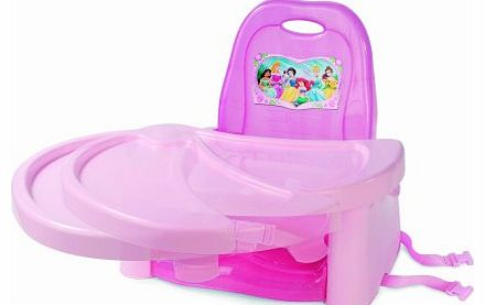 The Disney Princess swing tray booster seat features a serving tray that fits on top to ensure a clean eating surface and will swing open for easy access. This booster seat will fold away easily for travel or storage, and an extra serving tray is inc - CLICK FOR MORE INFORMATION