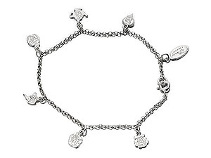 DISNEY Sterling Silver Six Charms Adjustable product image