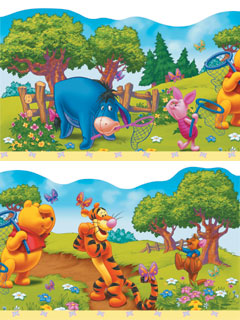 classic winnie the pooh wallpaper border. Black Bedroom Furniture Sets. Home Design Ideas