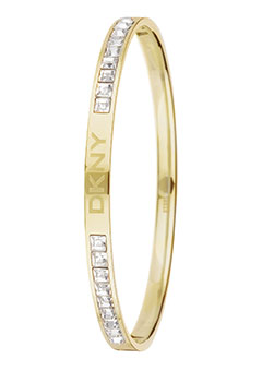 DKNY Circles Gold Plated and Cubic Zirconia