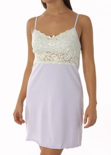 Stretch Cotton with Lace Galloon chemise