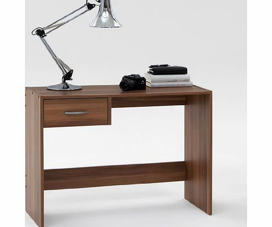 DMF PAUL Dark Walnut Finish Office Desk / Study Table with Drawer by DMF