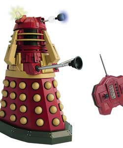 As seen in series 4 this 12in supreme Dalek has automated head and eye movement, a poseable gun arm  - CLICK FOR MORE INFORMATION