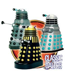 This set of 3 poseable Daleks contains examples of key designs from Planet of the Daleks, the Dead P - CLICK FOR MORE INFORMATION