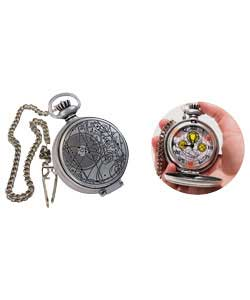This fully working fob watch has detailed engraving on the case and features speech, light and sound - CLICK FOR MORE INFORMATION