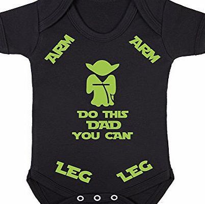 Dogsdonuts Do this Dad you can Baby Boy Girl Unisex Short Sleeve Star wars yoda Bodysuit Onesie (3-6months)