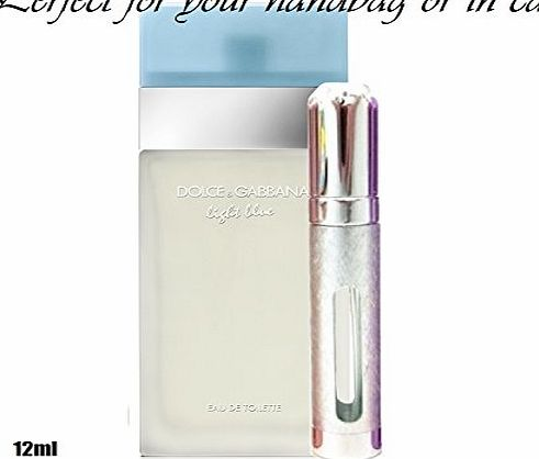 Dolce and Gabbana Light Blue Eau De Toilette 6ml or 12ml prefilled travel spray atomizer (12ml)