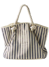Dorothy Perkins Blue/gold stripe beach bag