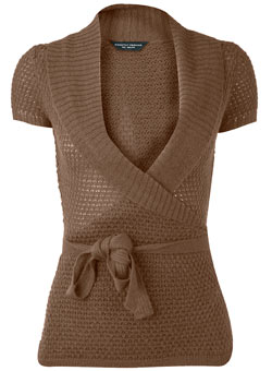 Dorothy Perkins Brown mohair wrap cardigan