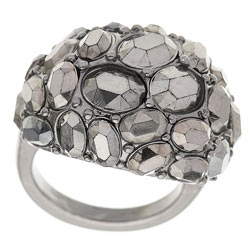 Dorothy Perkins Grey set stone band ring product image