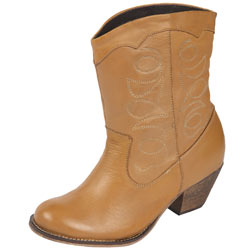 Dorothy Perkins Honey leather western boots