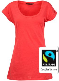 Dorothy Perkins Pink Fairtrade Cotton T Shirt Review
