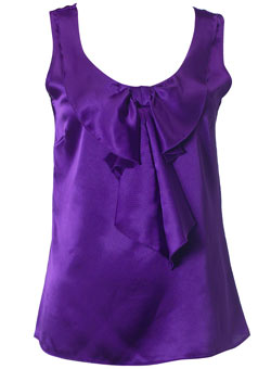 Dorothy Perkins Purple satin bow top