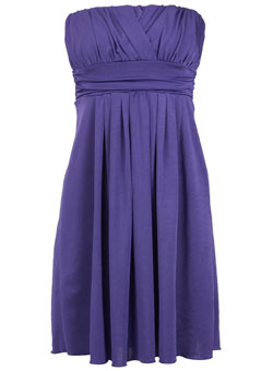 Plus Size Strapless Purple Taffeta A-Line Evening Dress | Plus