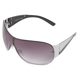 Silver large visor sunglasses
