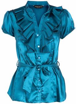 ������ ���� dorothy-perkins-teal-satin-tie-blouse.jpg