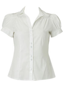Dorothy Perkins White puff sleeve shirt