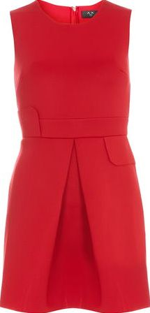 Dorothy Perkins, 1134[^]262015000711166 Womens AX Paris Red pleated skater dress- Red