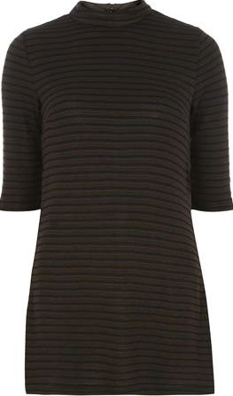 Dorothy Perkins, 1134[^]262015000708500 Womens Black And Khaki Tunic- Green DP05541752