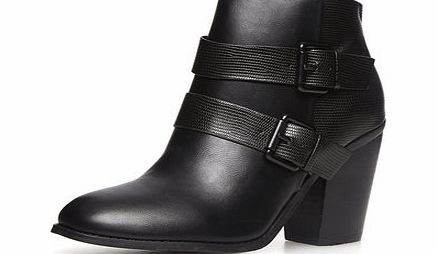 Dorothy Perkins Womens Black heeled ankle boots- Black DP22263901