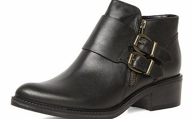 Dorothy Perkins Womens Black leather ankle boots- Black DP22264601