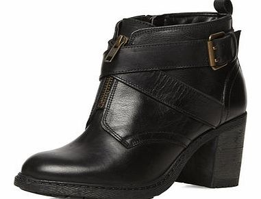 Dorothy Perkins Womens Black leather ankle boots- Black DP35224110
