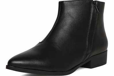 Dorothy Perkins Womens Black point zip boots- Black DP19884901