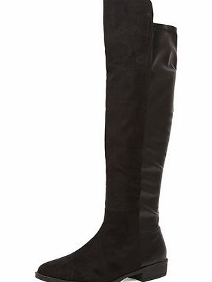 Dorothy Perkins Womens Black suede-effect boots- Black DP22246501