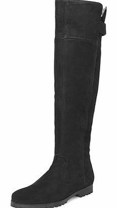 Dorothy Perkins Womens Black suede knee high boots- Black