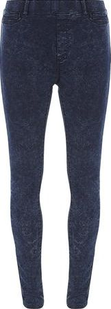 Dorothy Perkins, 1134[^]262015000711679 Womens Blue Black Acid Eden jeggings- Blue