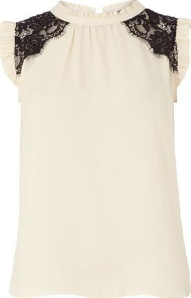 Dorothy Perkins, 1134[^]262015000705971 Womens Blush Lace Insert Top- Pink DP05596615