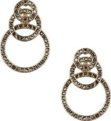 Dorothy Perkins, 1134[^]262015000715145 Womens Circle Overlay Earring- Grey DP49816235