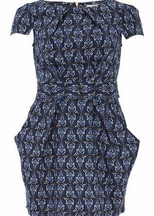 Dorothy Perkins Womens Closet Blue Vintage Print Dress