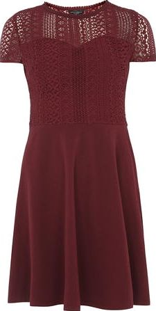 Dorothy Perkins, 1134[^]262015000712267 Womens Cranberry Lace Top Dress- Red DP56454026