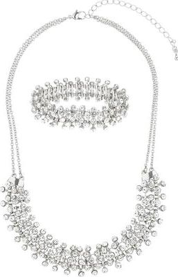 Dorothy Perkins, 1134[^]262015000715173 Womens Crystal Jewellery Set- Clear DP49816263