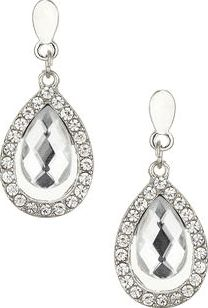 Dorothy Perkins, 1134[^]262015000715141 Womens Crystal tear Drop Earrings- Clear