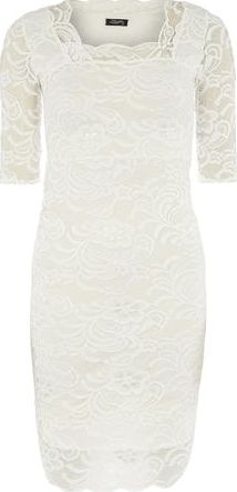 Dorothy Perkins, 1134[^]262015000705769 Womens Fever Fish Cream Lace Scallop Dress-