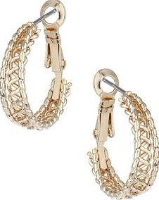 Dorothy Perkins, 1134[^]262015000709264 Womens Gold Rope Hoops- Gold DP49816197