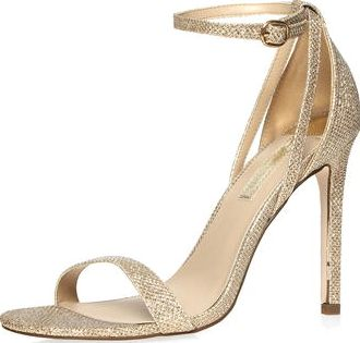 Dorothy Perkins, 1134[^]262015000707316 Womens Gold Simone high heel sandals- Gold