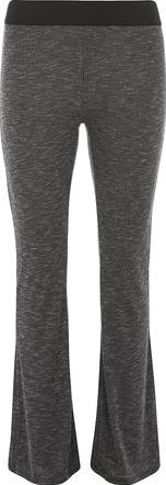 Dorothy Perkins, 1134[^]262015000709110 Womens Grey Marl Rib Flared Trousers- Grey