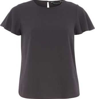 Dorothy Perkins, 1134[^]262015000706994 Womens Grey Soft T Shirt- Grey DP05596362
